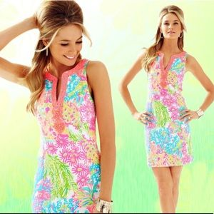 Lilly Pulitzer Lover's Coral Ryder Shift Dress